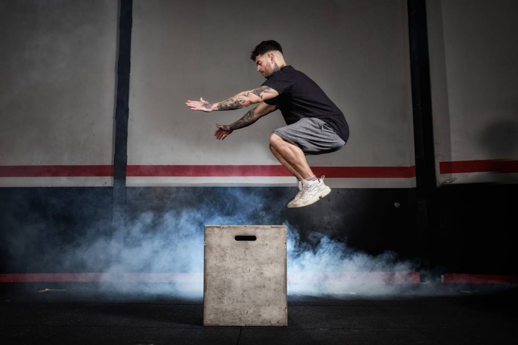 Side to Side Bench Jump
