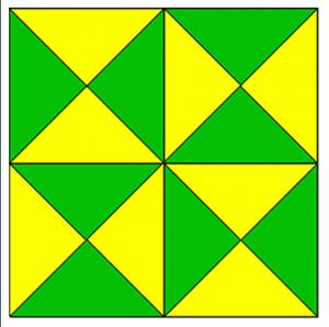 Bu görselde toplam kaç tane üçgen vardır?