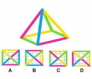 Bu üçgene yukarıdan bakarsak nasıl görürüz?